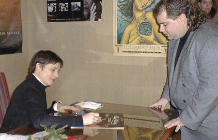 Isabella Rossellini visits the George Eastman House - November 2, 1997